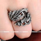 Mens Retro Vintage Rock Stainless Steel Dragon Claw Harley Biker Ring Gift Punk