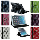 US Polka Dot Pattern PU Leather Case for iPad AIR 5 with 360 Degrees Stand Cover
