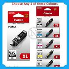 Any 1x Canon PGI650XL/CLI651XL HY Genuine Ink>IP8760/MG6360/MG7160/MG7560/IX6860