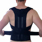 NEW BACK SUPPORT BRACE POSTURE CORRECTION DOUBLE PULL STRAP NEOPRENE LUMBAR BELT