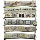 VINTAGE EMBROIDERED TAPESTRY DRAUGHT EXCLUDERS - MANY DESIGNS