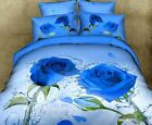Purple Rose Double/Queen/King Size Bed Quilt/Doona/Duvet Cover Set Bedding Sets