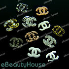 10 Pcs Alloy Jewelry 3D DIY Rhinestone Nail Art Glitters Slices #083J