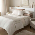 Catherine Lansfield Heat Seal Natural Cream Bedding Duvet Quilt Cover Set Acc...