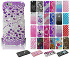 Apple iPhone 6 Plus 5.5 Crystal Diamond BLING Hard Case Cover + Screen Guard