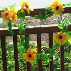 2pcs Artificial Sunflower Flower Vine for DIY Home Garden Fence Party Decoration