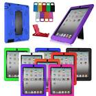 Baby Kids Heavy Shockproof Military Duty Hybrid Hard Case Cover For iPad 2 3 4