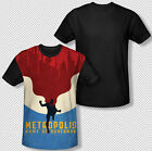 Metropolis Home Of Superman The Man Of Steel DC All Over Front Youth T-shirt Top