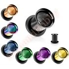 Titanium Anodized Single Flare Ear Tunnel Body Jewellery CHOOSE SINGLE OR PAIR