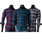 CLASSIC Plaid Style Casual Shirts Mens Long Sleeve Button Down Office Wear Shirt