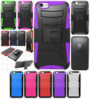 For Apple iPhone 6 Plus 5.5 Combo Holster HYBRID KICKSTAND Rubber Case Cover