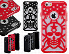 For Apple iPhone 6 4.7 Stars Skull Hybrid Dual Layered Skin Case Phone Cover