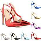 Womens Pointed High Heels Work Dress PumpCourt Ankle Shoes Sandals US Size 4-11