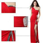 FREE SHIP~ Trailing Split Evening Dress Bridesmaid Prom Party Gown Banquet Dress