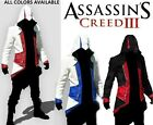 ASSASSIN'S CREED III CONNER KENWAY COAT JACKET COSPLAY COSTUME BLUE RED BLACK