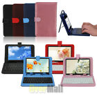 """Leather Folder Pouch Cover Case With USB Keyboard  For 7"""" inch Android Tablet PC"""