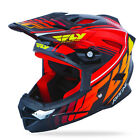 NEW FLY RACING DEFAULT BMX DOWNHILL MTB ADULT HELMET BLACK/ RED ALL SIZES