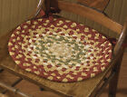 """Mill Village Braided Chair Pad by Park Designs, 15"""" Dia., with Ties, One or Set"""