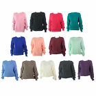 J56 LADIES NEW LONG SLEEVE CHUNKY KNITTED BAGGY OVERSIZE JUMPER SWEATER TOP 8-14