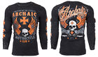 Archaic AFFLICTION Men THERMAL T-Shirt REBEL American Custom Biker UFC M-3XL $58