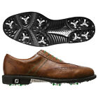 Footjoy Mens Icon Wingtip Golf Shoes 52252 Antique Tan