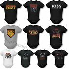 KISS Rock Band Group Face Destroyer Logo Baby Infant snapsuit one piece tee top
