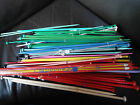 PAIR OF COLOURED PLASTIC 12/14 INCH KNITTING NEEDLES GREAT FOR KIDS, LIGHTWEIGHT