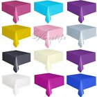 "Plastic Tablecovers Table Cover Cloths Rectangle 54"" X 108"" Patry Decorations"