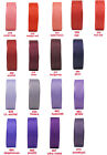 "5y 10y 25y 16mm 5/8"" Red Coral Burgundy Purple Lilac Grosgrain Ribbon Eco Gift"