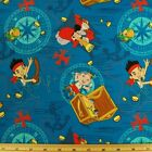 Sale Disney Jake and the Neverland Pirates Treasure Ahoy 100% Cotton Fabric