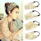Womens Girls Hair Accessories Lace Headband Retro Hair Band Wide Headwraps