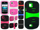 For AT&T Avail 2 Hard Gel Rubber KICKSTAND Protector Case Phone Cover Accessory