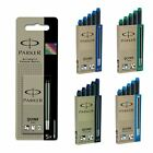 Parker LONG Quink Ink Cartridges for Fountain Pens - New