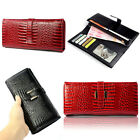 1PCS New Crocodile Pattern Leather Women Top Grade Ladies Wallet Purse Reliable