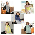 Women's Lady's Girl's Soft Chiffon Scarf Wraps Shawl Stole Summer Long Scarves