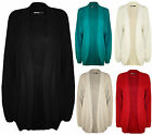 New Plus Womens Long Sleeve Open Top Ladies Fisherman Knitted Cardigan 16 - 22