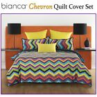 Chevron Quilt Cover Set by Bianca - DOUBLE QUEEN KING Eurocases Cushion