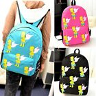 Women Canvas Backpack Satchel Shoulder School Cartoon Rucksack Leisure Bag 35DI