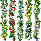 Artificial Silk Rose Flower Ivy Vine Leaves Hanging Garland Wedding Home Decor