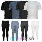 Mens Thermal Long Johns John Short Sleeve Set Winter Warm Underwear S M L XL XXL