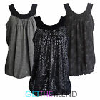 Womens Glitter Plus Size Sleeveless Party Floral Strappy Scoop Neck Top Dress