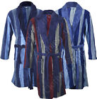 BR3 Mens Striped Bathrobe Fleece Supersoft Dressing Gown Robe Warm Winter Gift