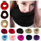 Woman Men Winter Warm Infinity Circle Cable Knit Cowl Neck Long Scarf Shawl