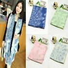 1Pc Women's Fashion Porcelain Design Chiffon Scarf Pashmina Wrap Shawl Long
