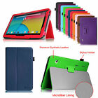 "Dragon Touch A1X /A1 10.1"" Android Tablet Premium Vegan Leather Cover Case Stand"