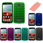 For Alcatel One Touch Fierce 2 Candy Cover Skin Case w/ Free Screen Protector