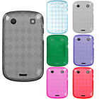 For Blackberry Bold 9930 9900 TPU CANDY Gel Flexi Skin Case Phone Cover Plaid