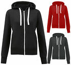 Womens Unisex Zip Hoodie Fleece Hooded Sweatshirt Jacket Top Plus Sizes 16-28