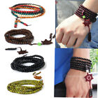 216 Prayer Beads Sandalwood Buddhist Buddha Mala Bodhi Tribal Bracelet/Necklace