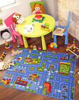Blue Roads Village Town City Interactive Fun Cheap Large Small Kids Play Mat